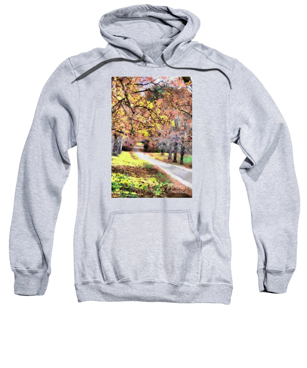 Fall Sweatshirt featuring the photograph Down The Way by Teresa Henry