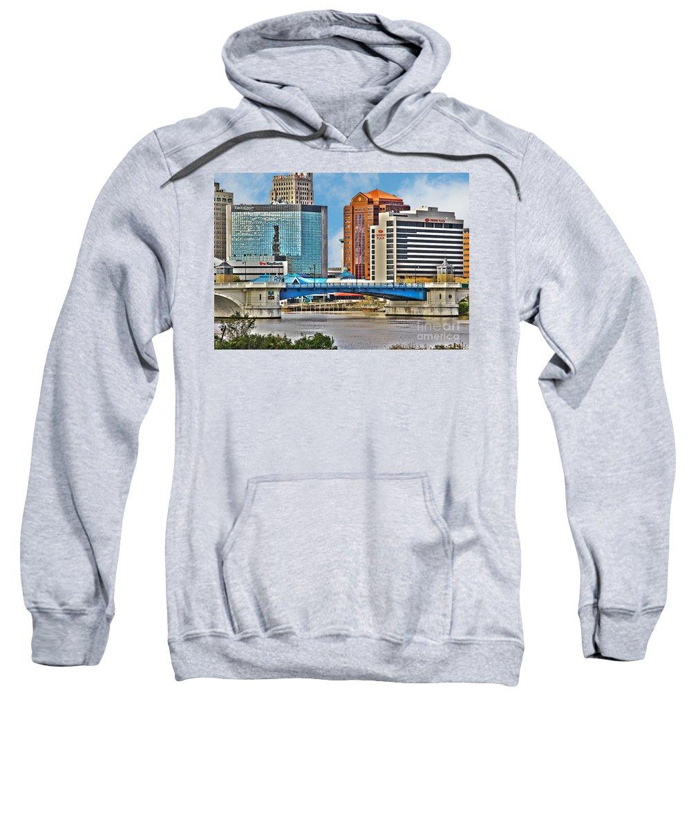 Toledo Ohio Sweatshirt featuring the photograph Downtown Toledo Riverfront by Jack Schultz
