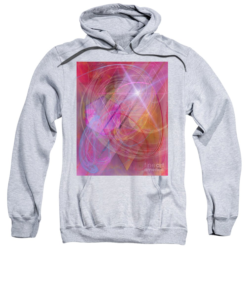Dragon's Gem Sweatshirt featuring the digital art Dragon's Gem by John Beck