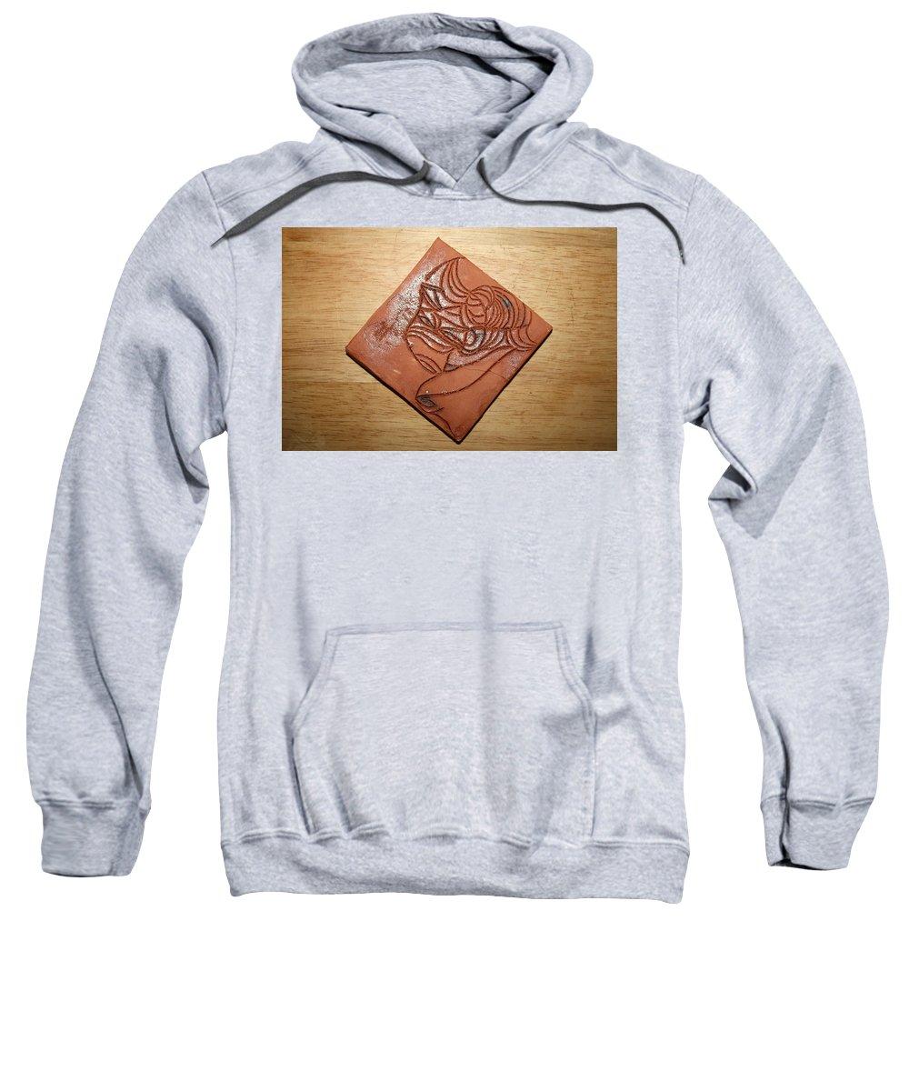 Jesus Sweatshirt featuring the ceramic art Dramaqueen 3 - Tile by Gloria Ssali