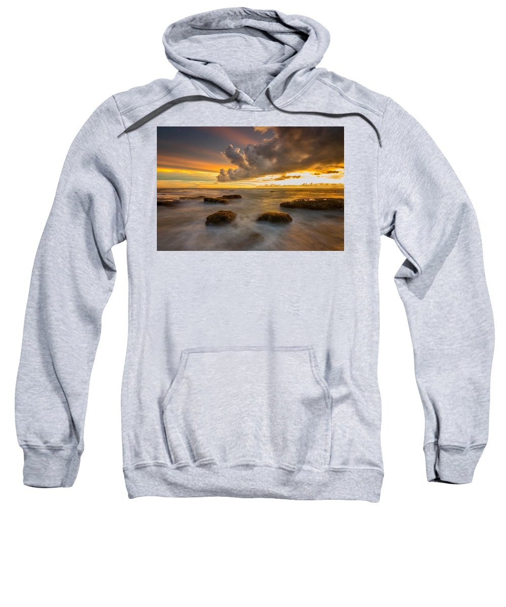 Sunset Sweatshirt featuring the photograph Dramatic by Dikky Oesin