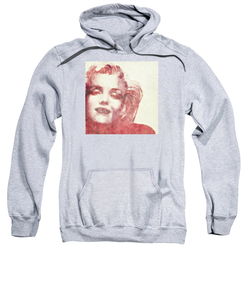 Marilyn Monroe Sweatshirt featuring the painting Dream A Little Dream Of Me by Paul Lovering