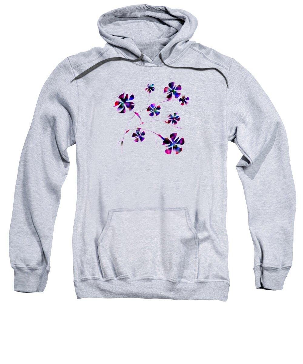 Abstract Sweatshirt featuring the digital art Dream Flowers by Anastasiya Malakhova