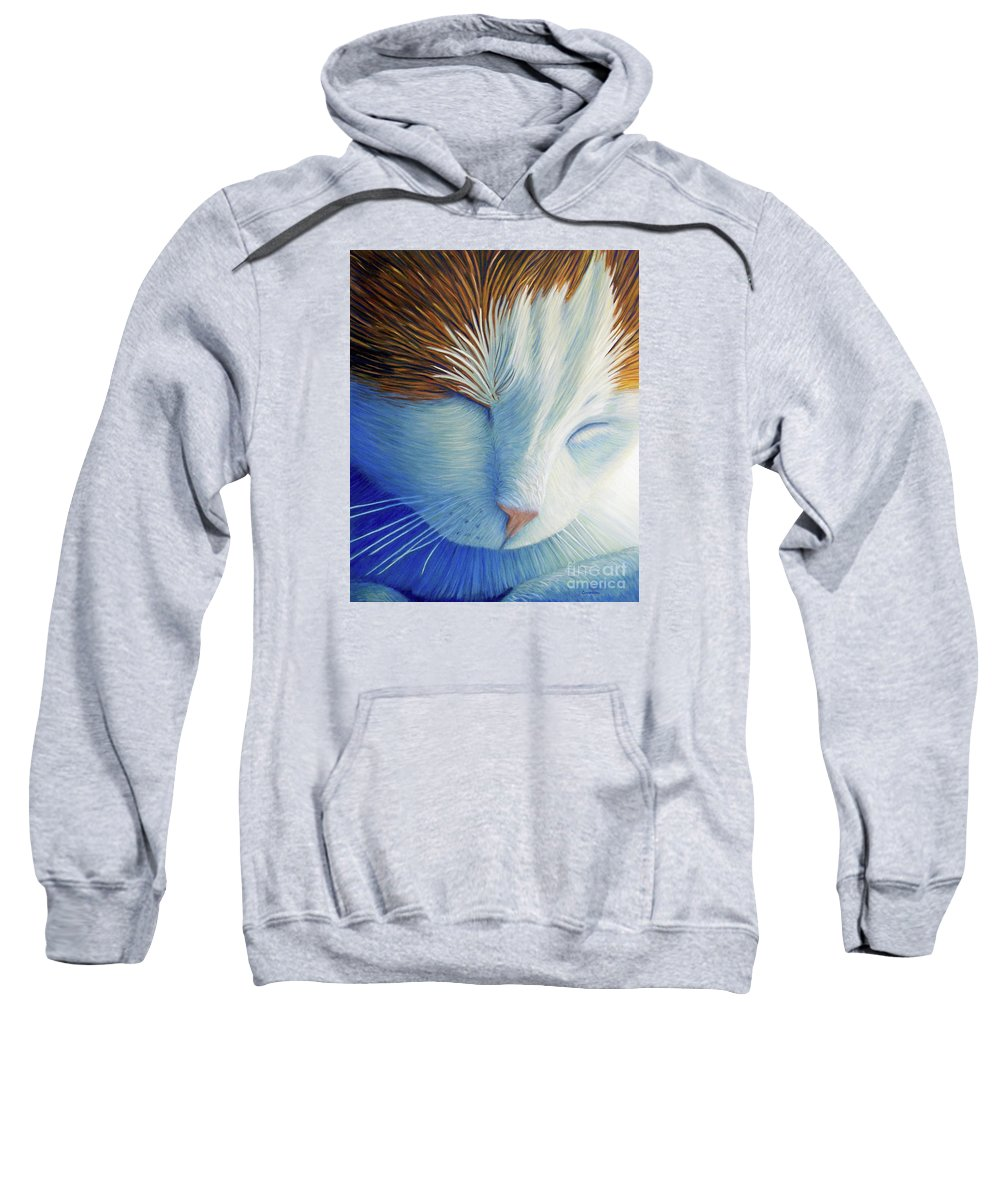 Cat Sweatshirt featuring the painting Dream Within A Dream by Brian Commerford