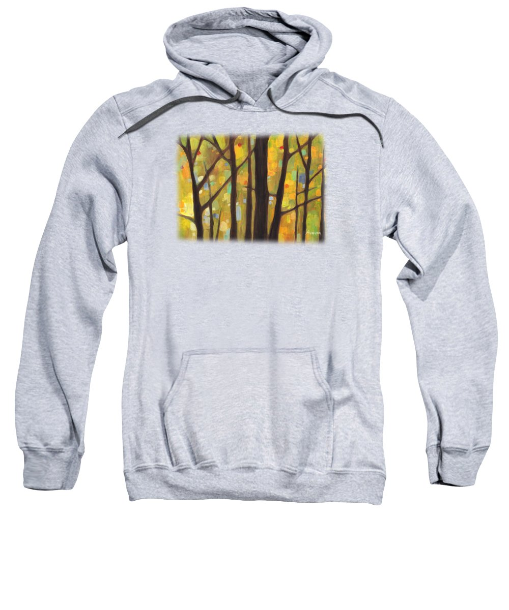 Dreaming Sweatshirt featuring the painting Dreaming Trees 1 by Hailey E Herrera
