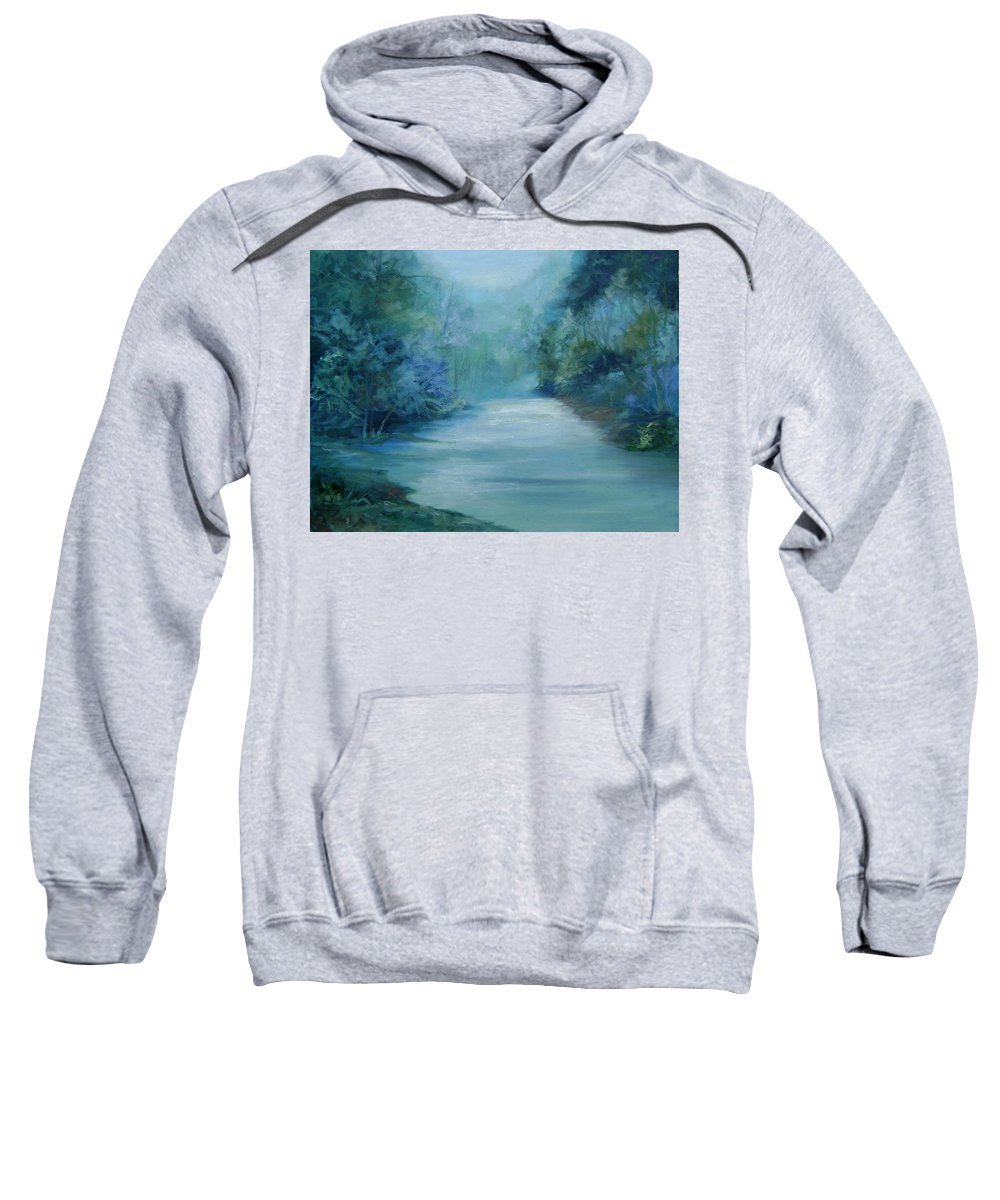 Burton River Georgia Sweatshirt featuring the painting Dreamsome by Ginger Concepcion
