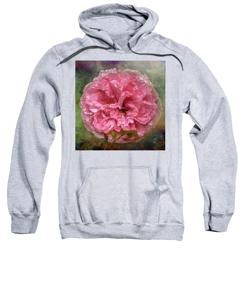 Colourful Sweatshirt featuring the photograph Drenched by Deborah Ann Stott