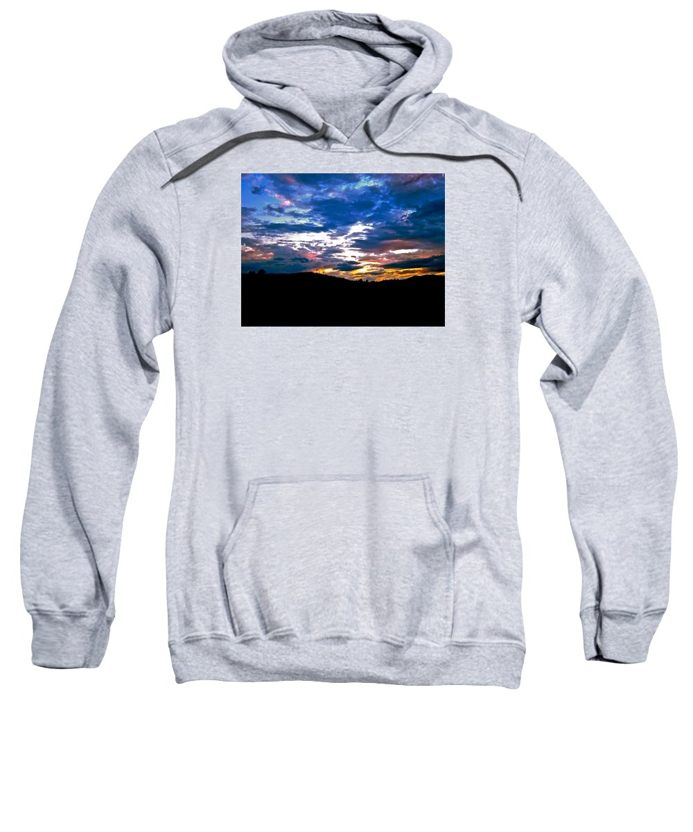 Sunset Sweatshirt featuring the photograph Drenched In Bach by Elizabeth Tillar