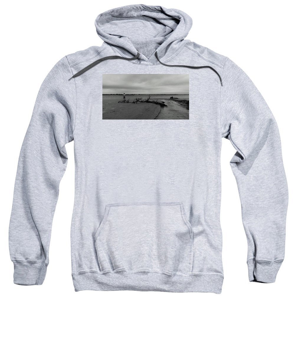 Beach Sweatshirt featuring the photograph Driftwood by Jessicca Lawrence