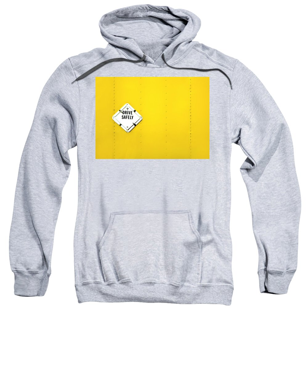 Bright Sweatshirt featuring the photograph Drive Safely by Evelina Kremsdorf