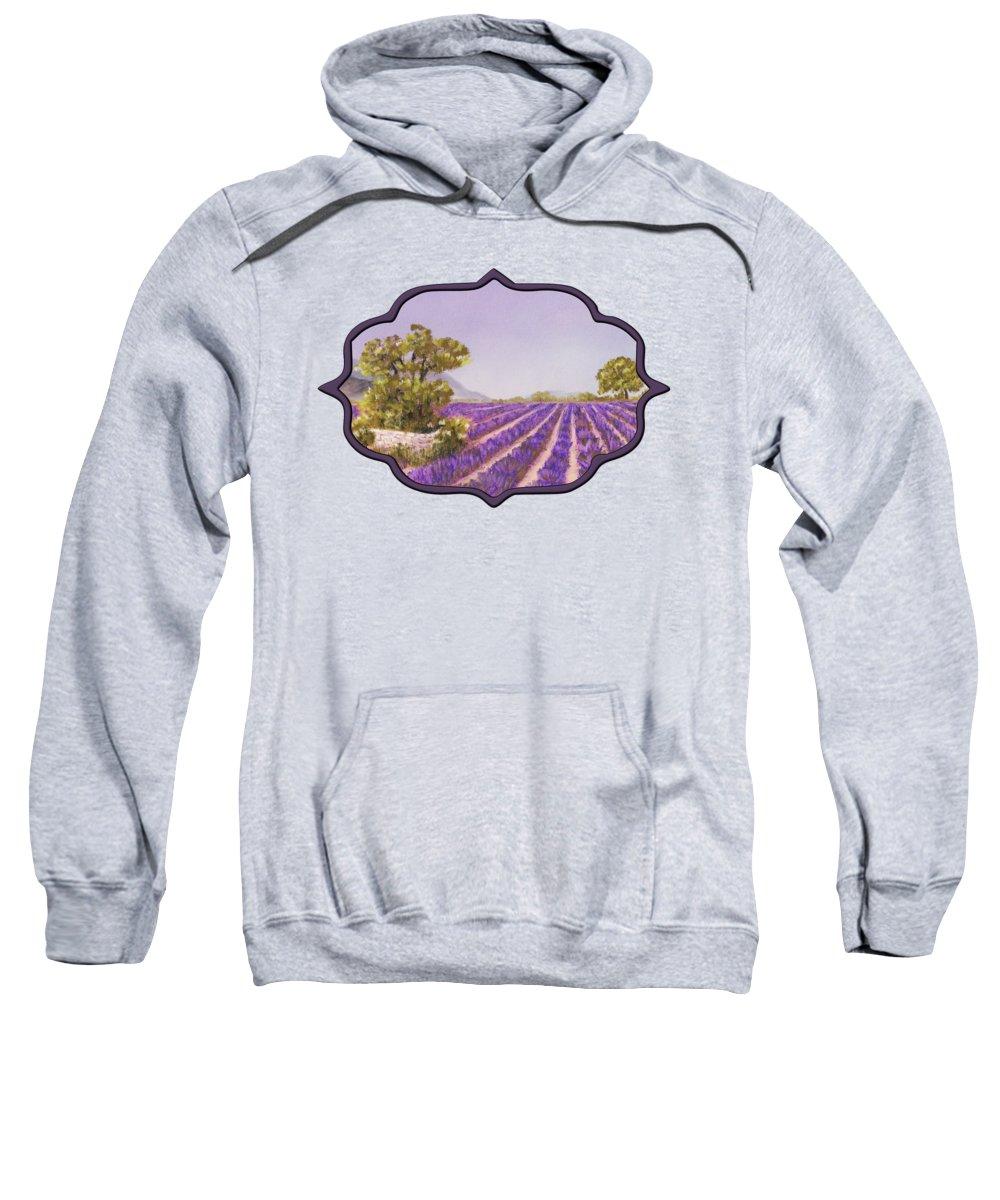 Interior Sweatshirt featuring the painting Drome Provence by Anastasiya Malakhova