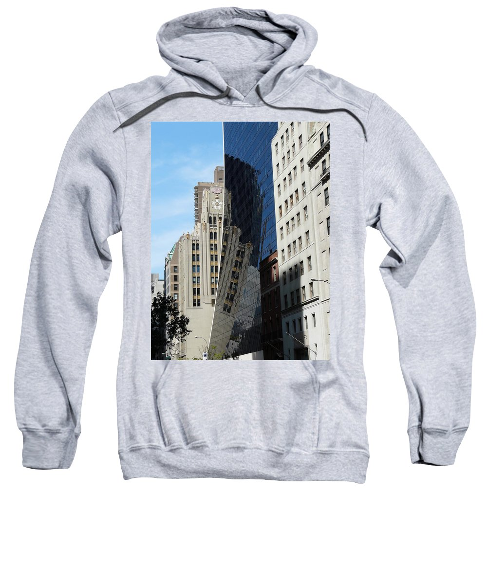 New York Sweatshirt featuring the photograph Drowning By Reflection by Valerie Ornstein