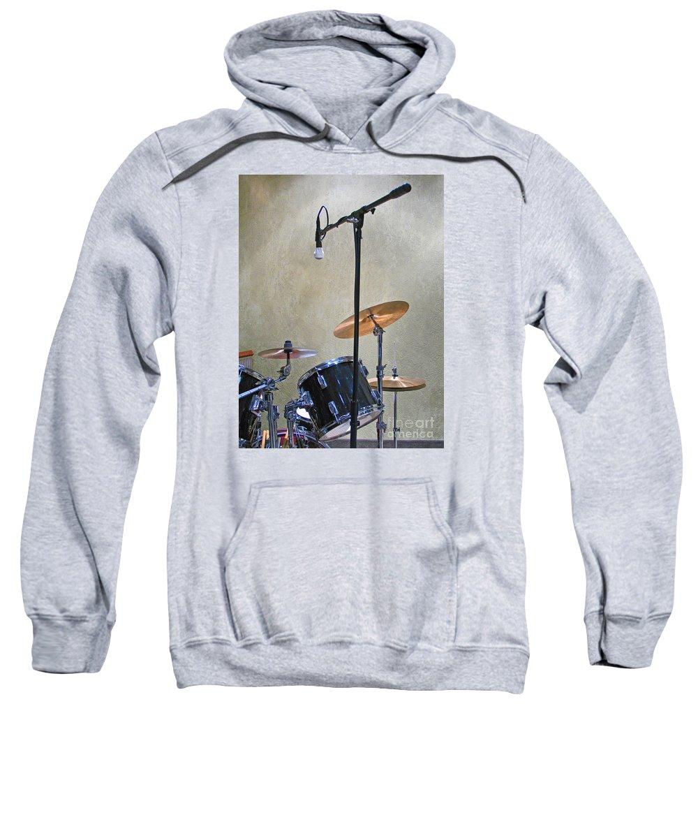Music Sweatshirt featuring the photograph Drummers Joy by Ann Horn