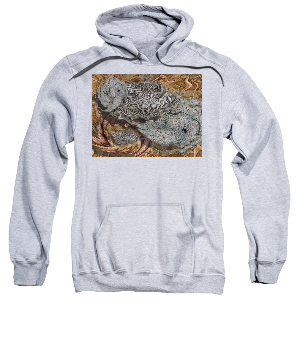 Digital Art Sweatshirt featuring the digital art Dry Organics by Ron Bissett
