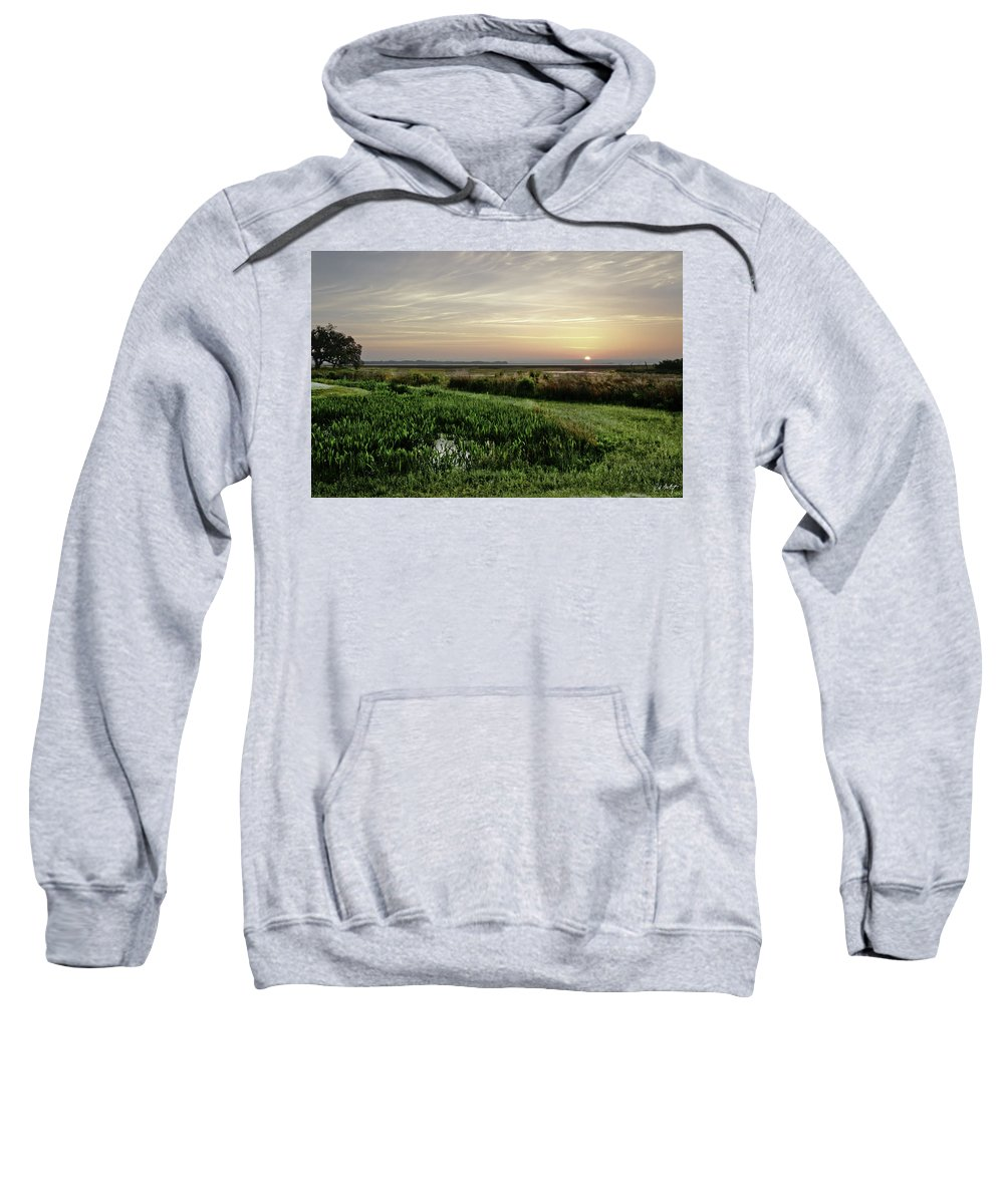 Sunrise Sweatshirt featuring the photograph Due East by Phill Doherty