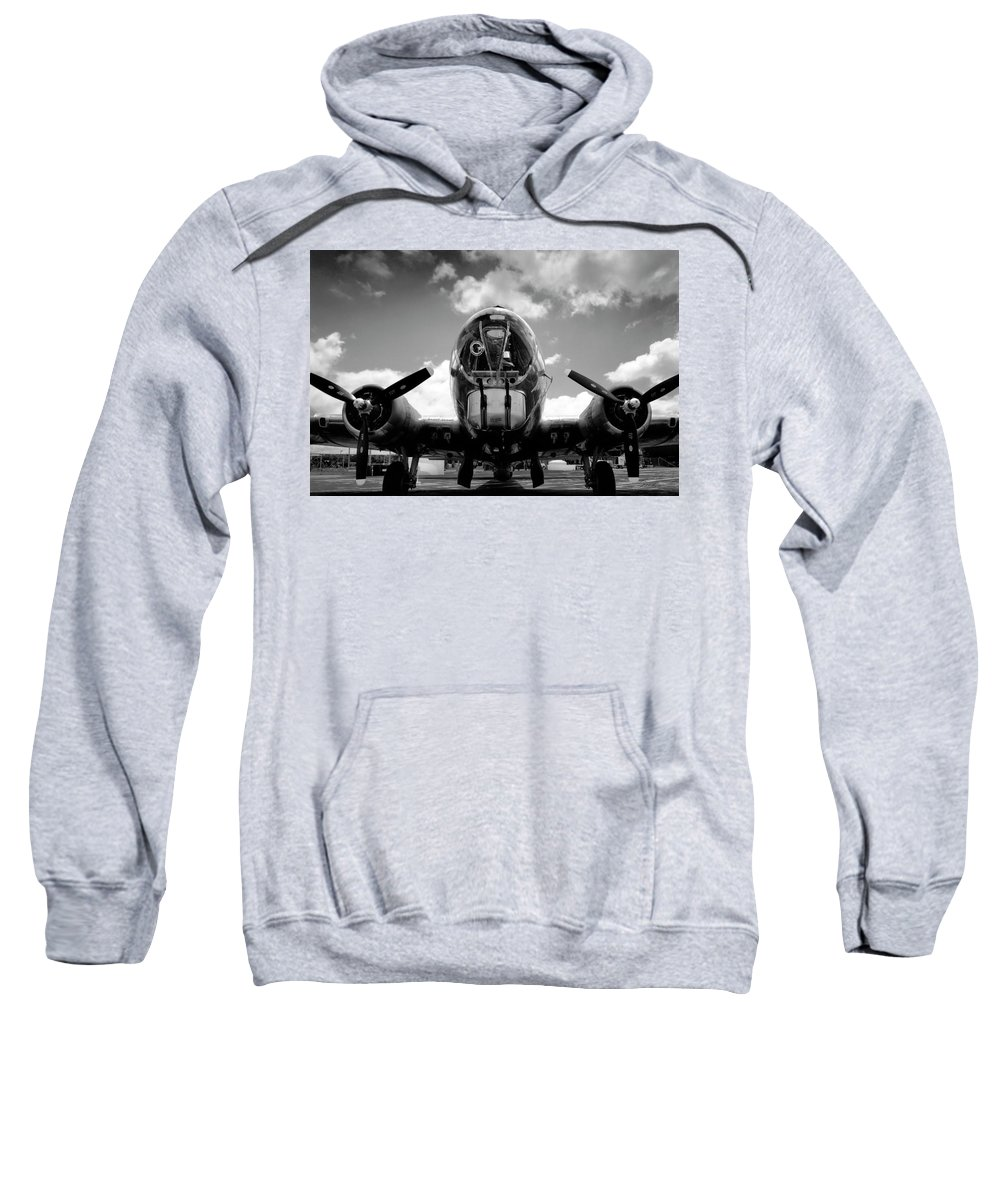 Photography Sweatshirt featuring the photograph Duel Fifty Caliber by Frederic A Reinecke