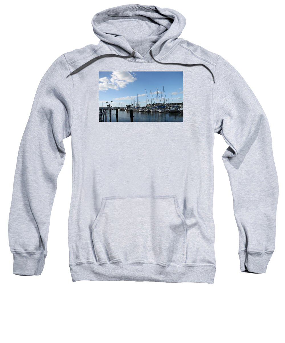 Dunedin Sweatshirt featuring the photograph Dunedin Marina I by Christiane Schulze Art And Photography