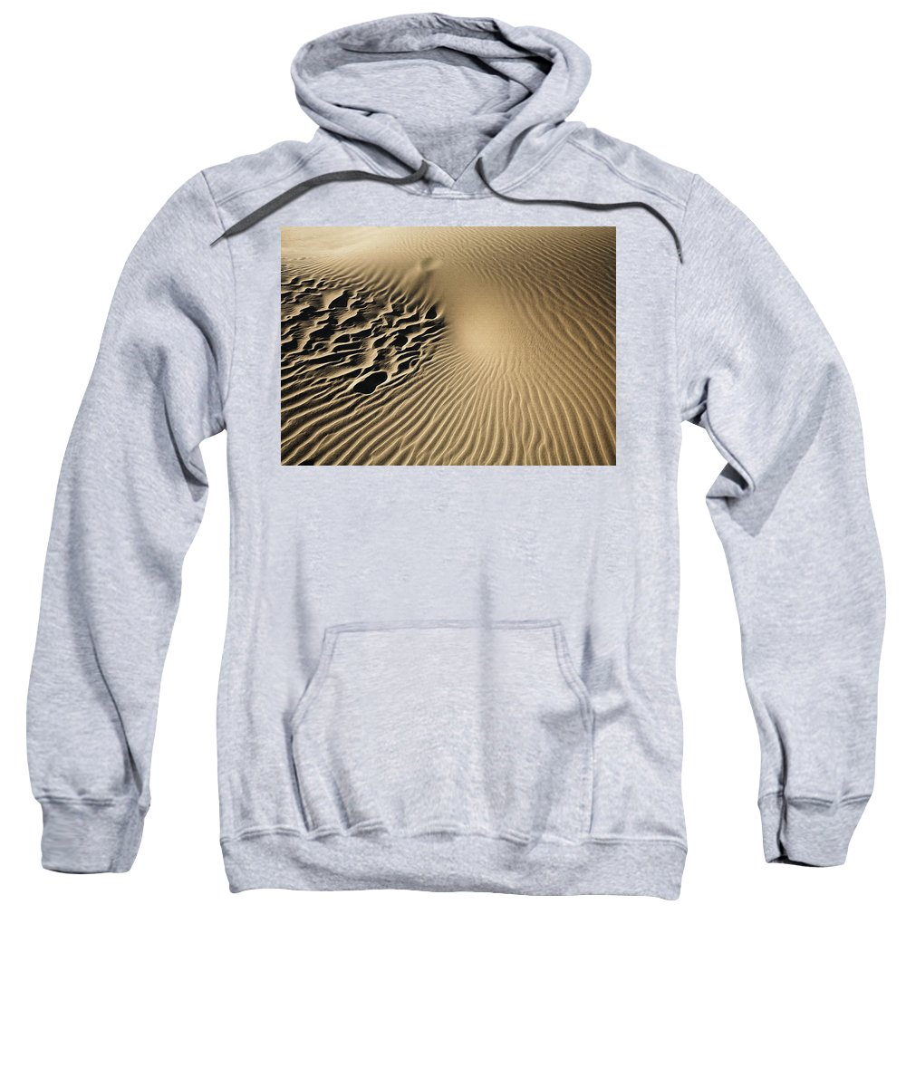 Landscape Sweatshirt featuring the photograph Dunes Footprints by Sharon Foster