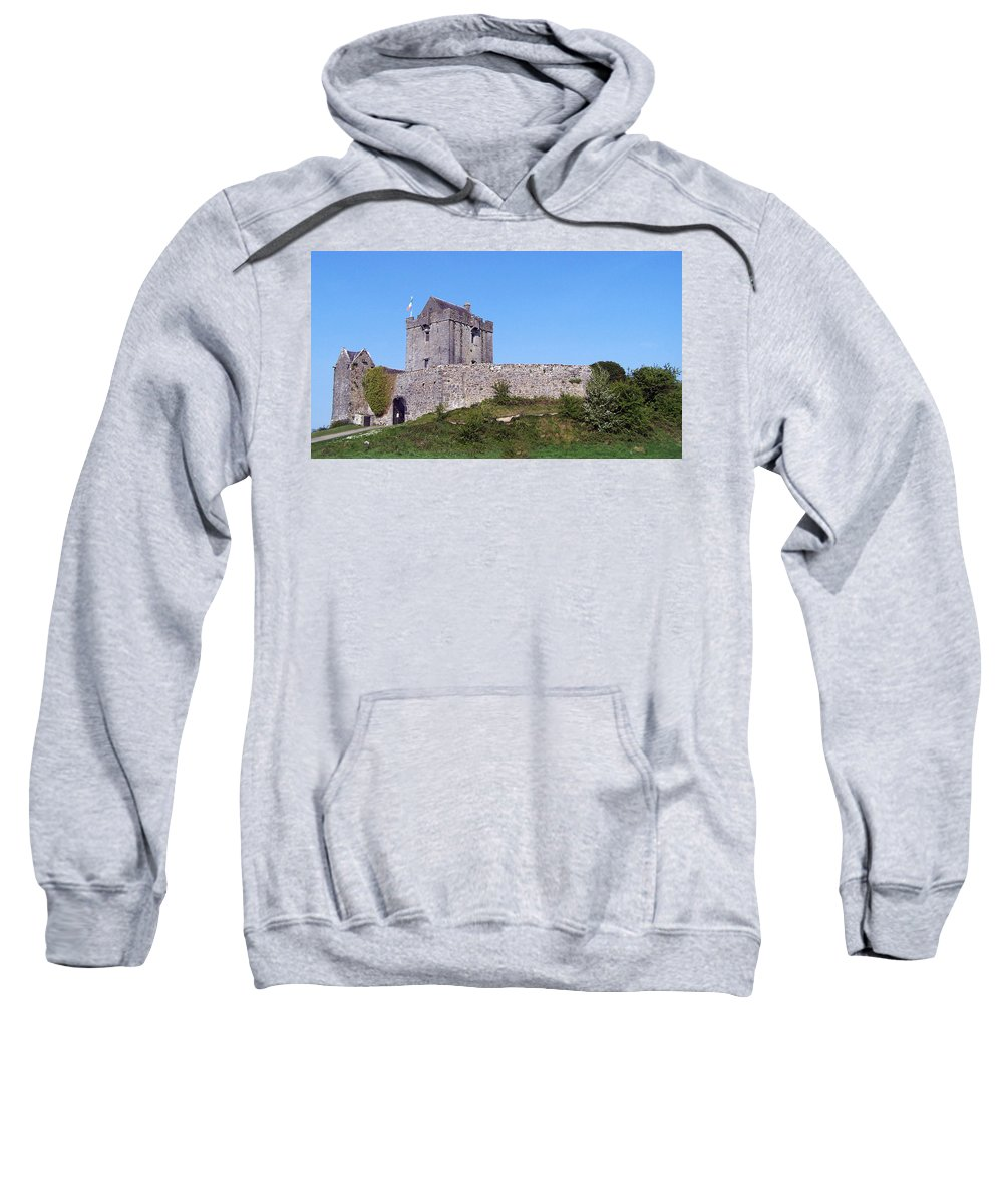 Irish Sweatshirt featuring the photograph Dunguaire Castle Kinvara Ireland by Teresa Mucha