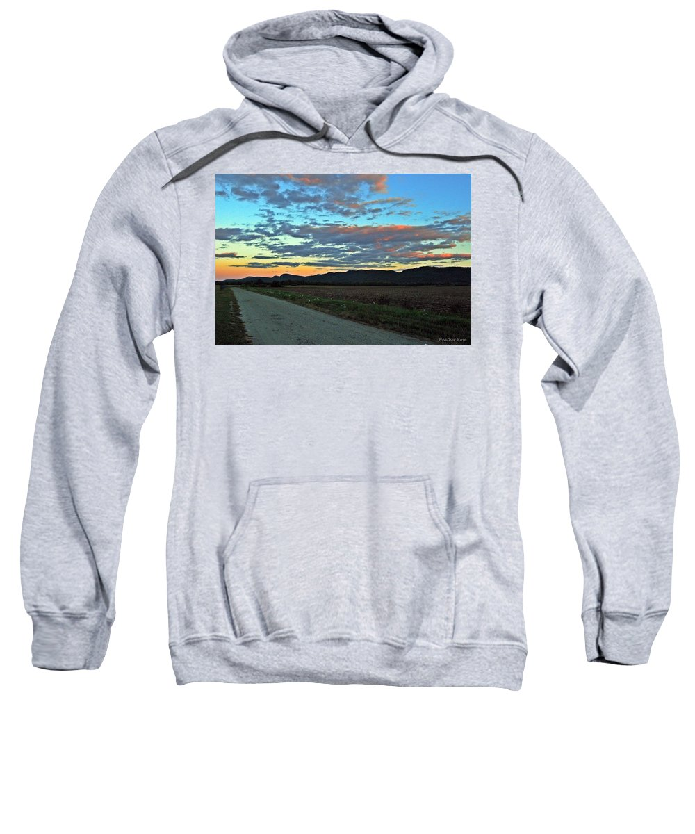 Landscape Sweatshirt featuring the photograph Dusk by Heather Rose