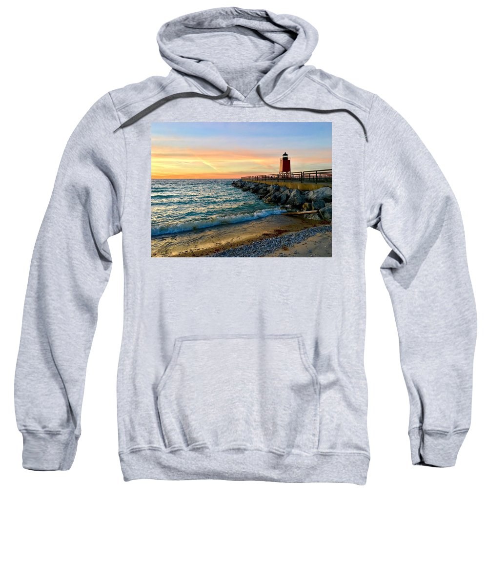 Landscape Sweatshirt featuring the photograph Dusk In Charlevoix by Megan Noble
