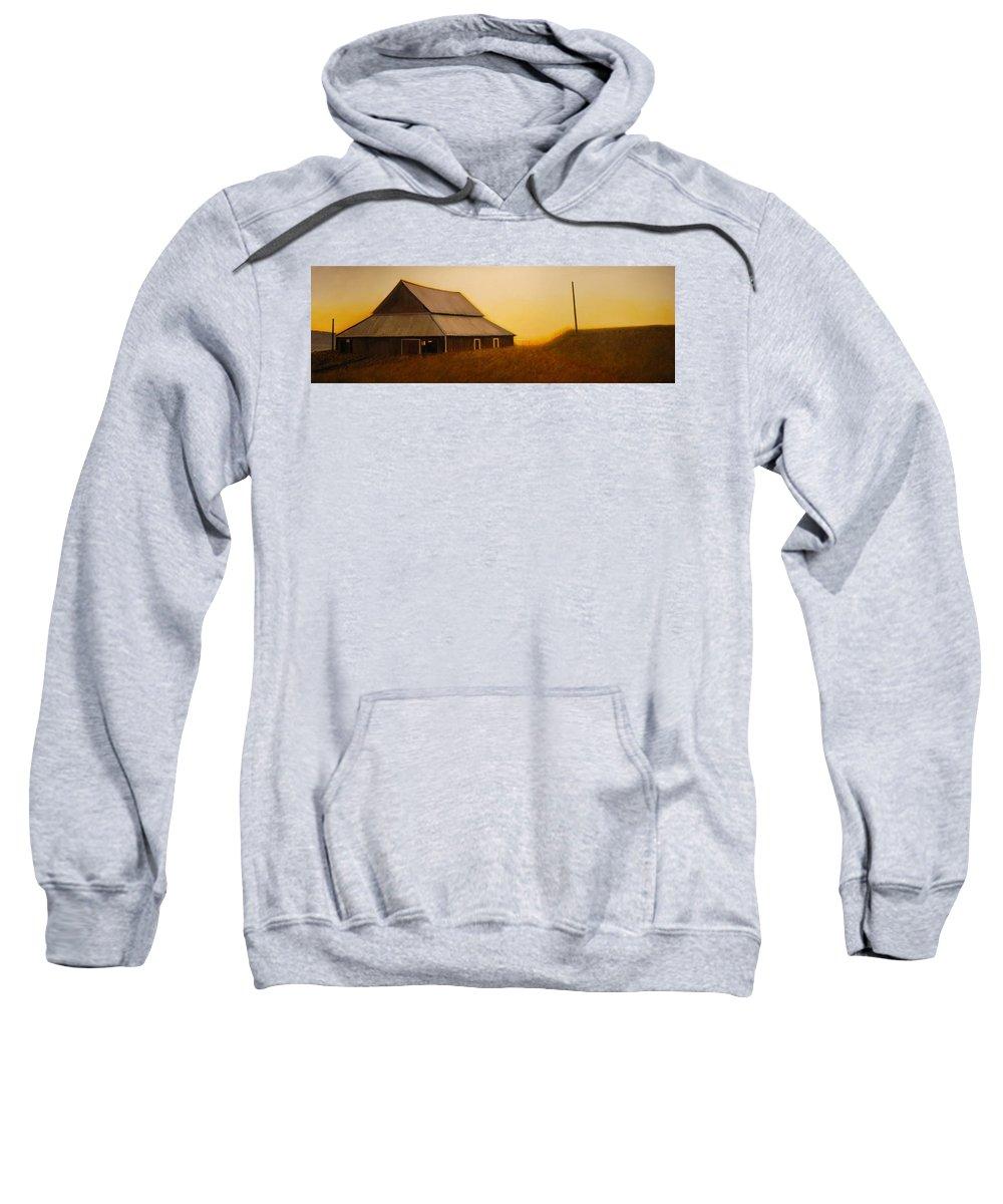Sunrise Sweatshirt featuring the painting Dusk near Union by Leonard Heid