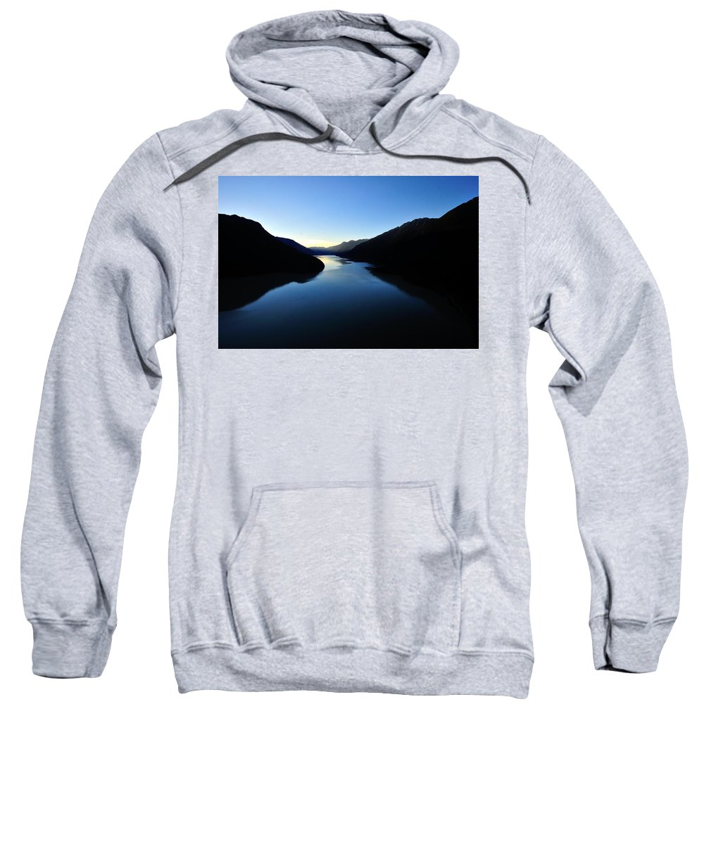 Lake Sweatshirt featuring the photograph Dusk On Lillooet Lake by Dave Steers