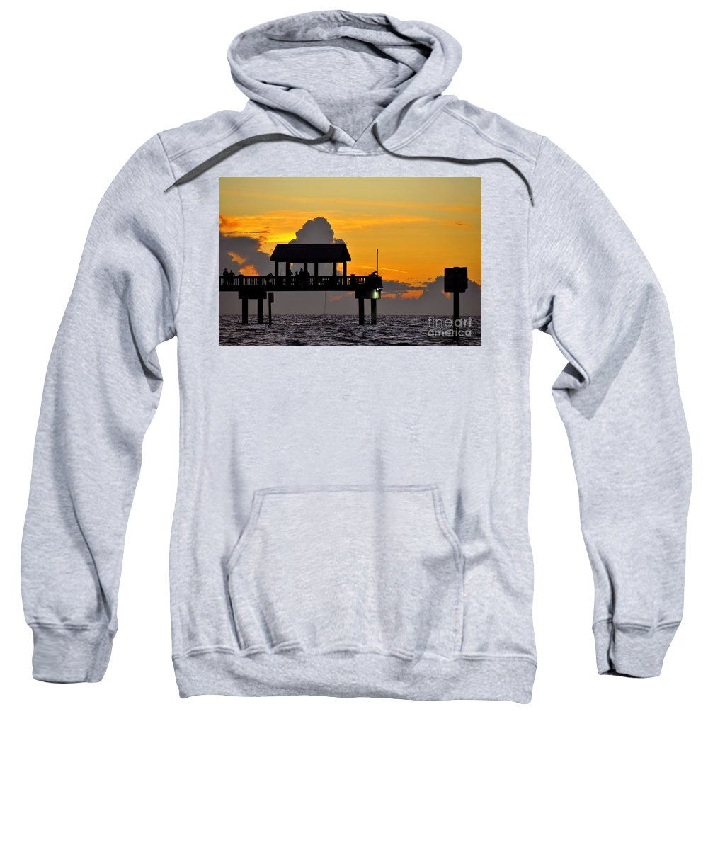 Gulf Of Mexico Sweatshirt featuring the photograph Dusk Over The Gulf by David Lee Thompson