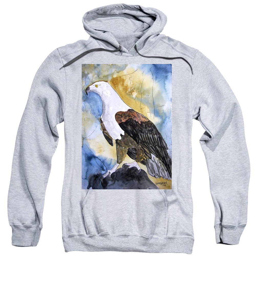 Realistic Sweatshirt featuring the painting Eagle by Derek Mccrea