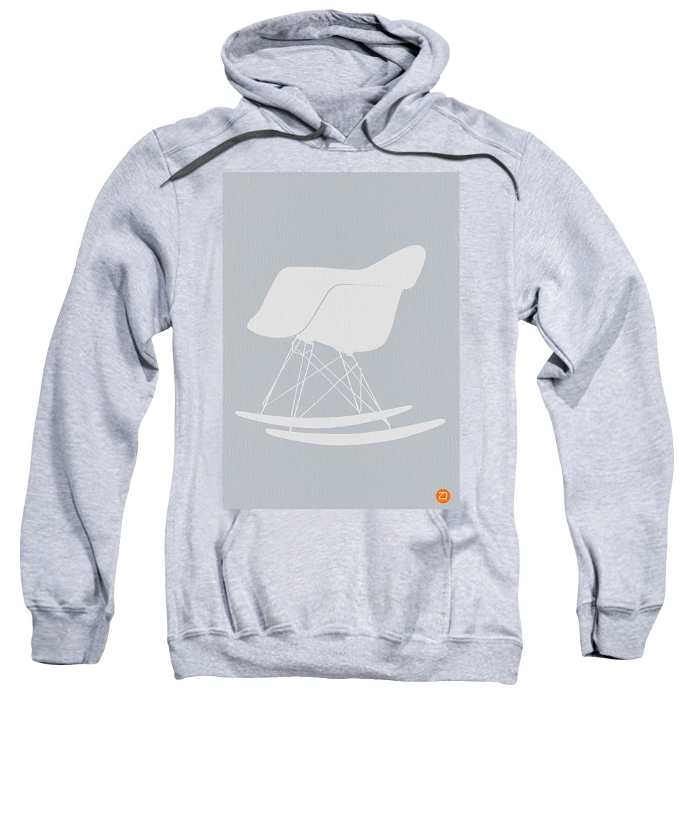 Eames Sweatshirt featuring the photograph Eames Rocking Chair by Naxart Studio