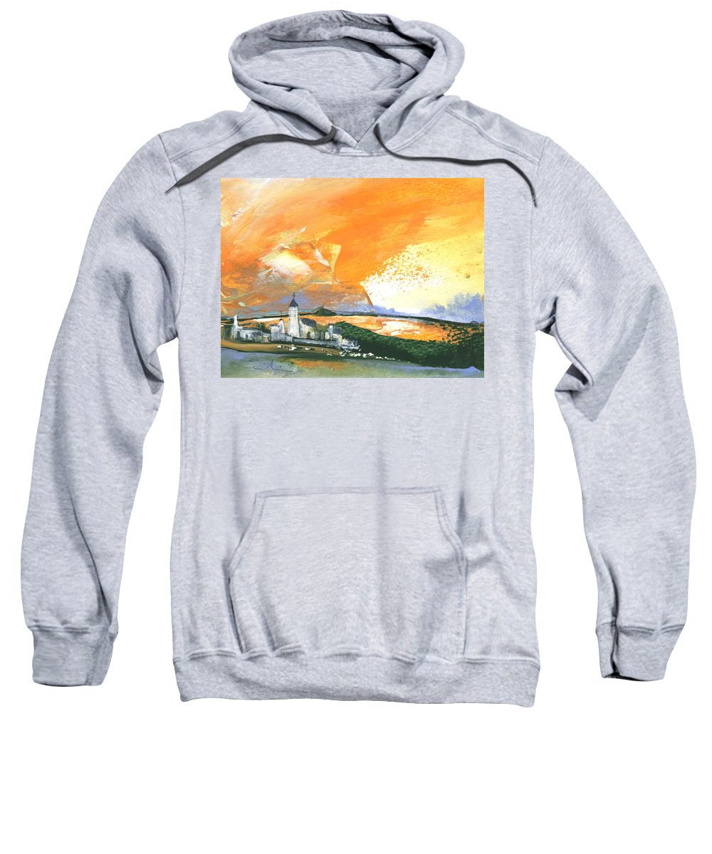 Watercolour Landscape Sweatshirt featuring the painting Early Afternoon 15 by Miki De Goodaboom