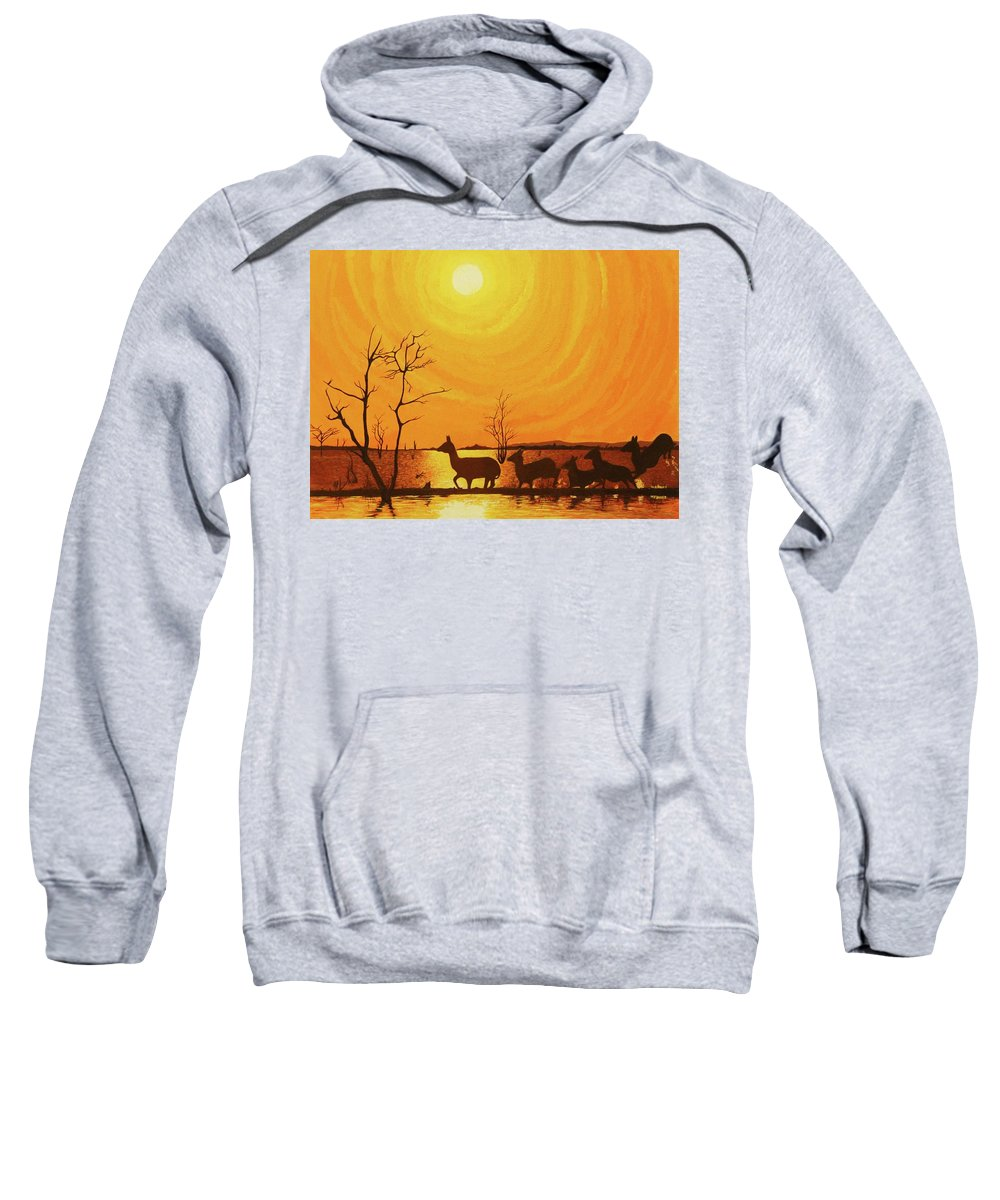 Acrylic Painting Sweatshirt featuring the painting Early Dusk by Jack Harries