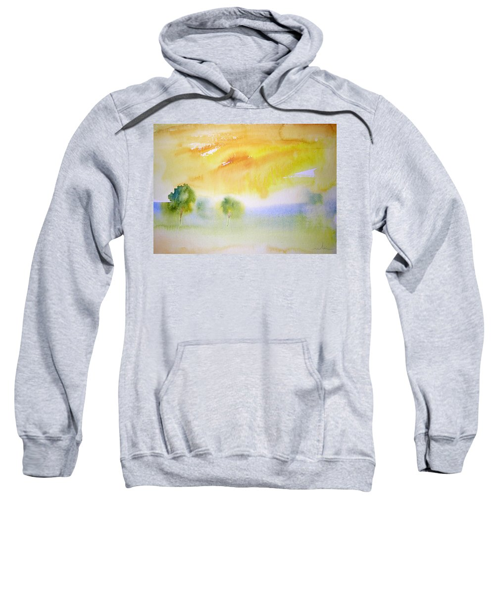 Nature Sweatshirt featuring the painting Early Morning 02 by Miki De Goodaboom