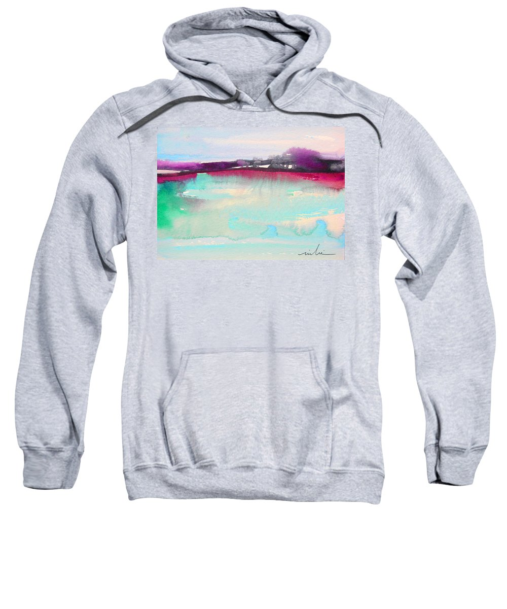 Watercolour Sweatshirt featuring the painting Early Morning 07 by Miki De Goodaboom
