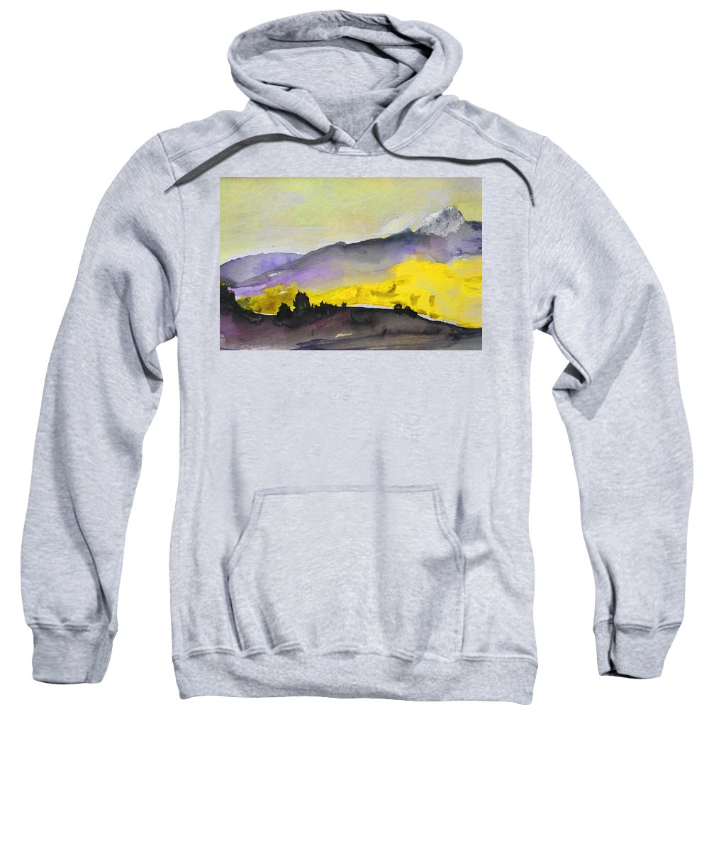 Watercolour Sweatshirt featuring the painting Early Morning 08 by Miki De Goodaboom