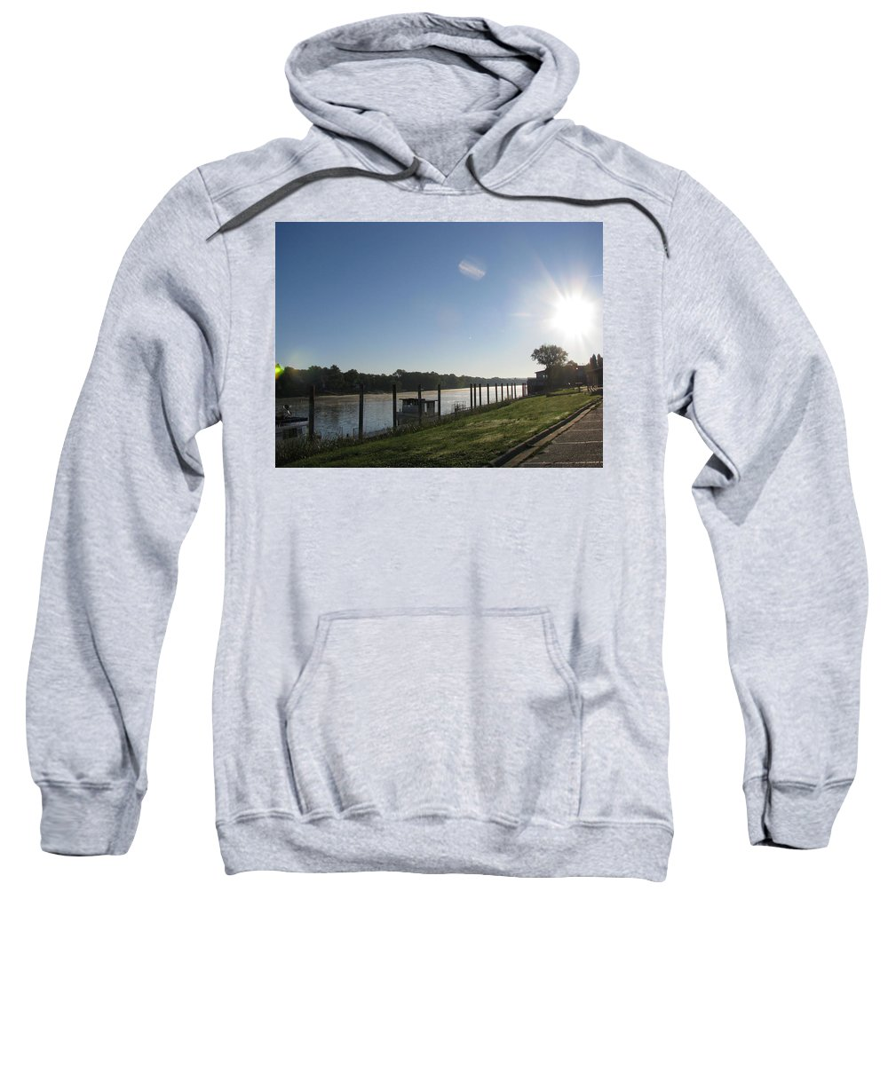 River Sweatshirt featuring the photograph Early Morning On The Savannah River by Donna Brown
