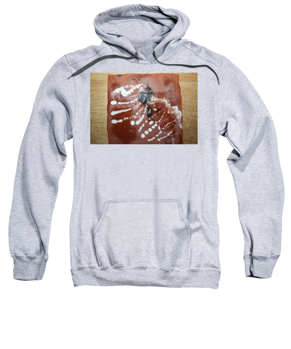 Jesus Sweatshirt featuring the ceramic art Early Riser - Tile by Gloria Ssali