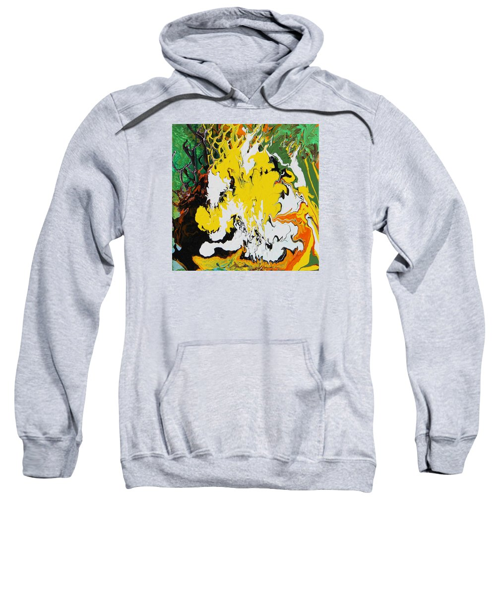 Fusionart Sweatshirt featuring the painting Earth by Ralph White