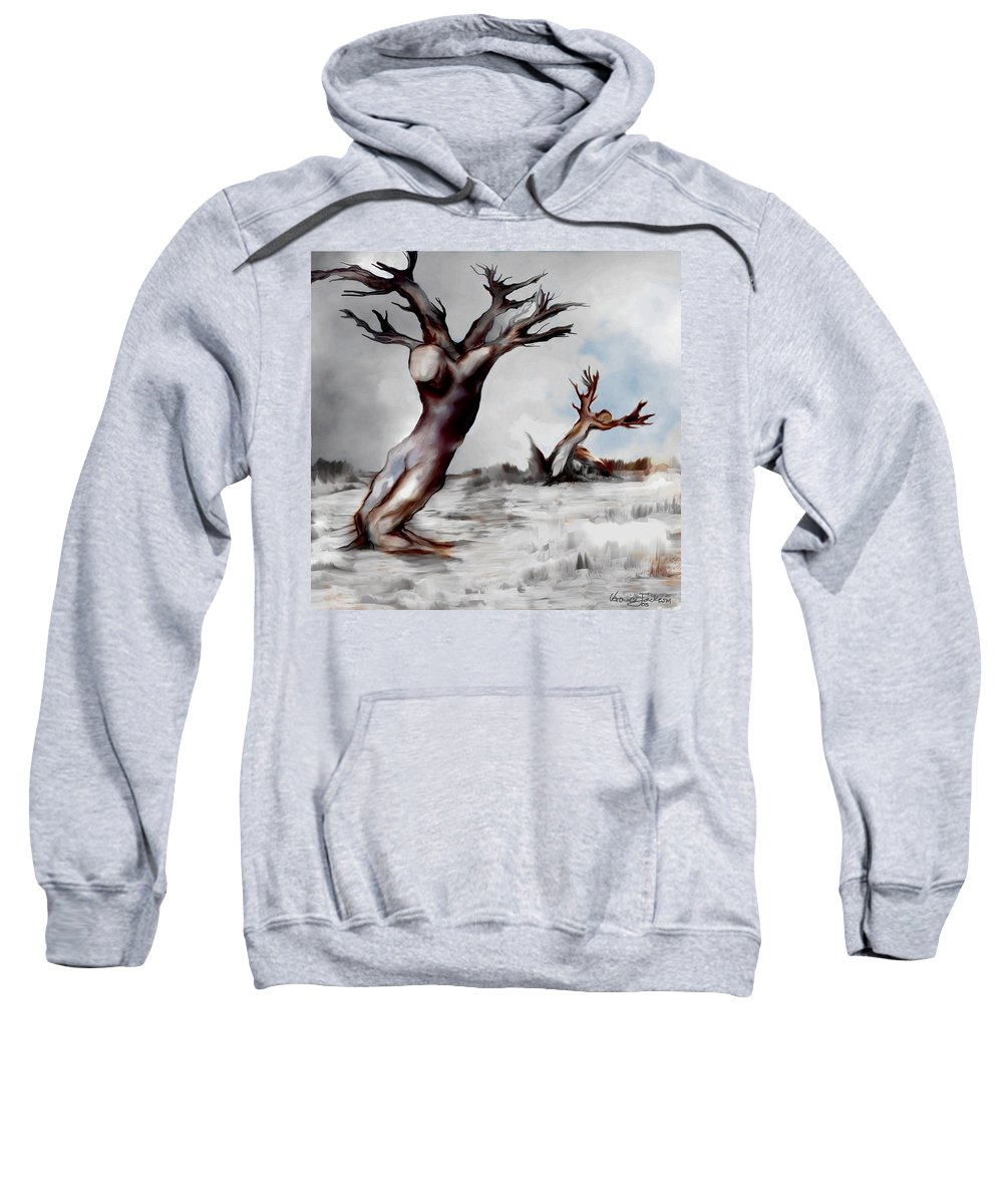 Trees Soul Nature Sky Storm Freedom Sweatshirt featuring the mixed media Earthbound by Veronica Jackson