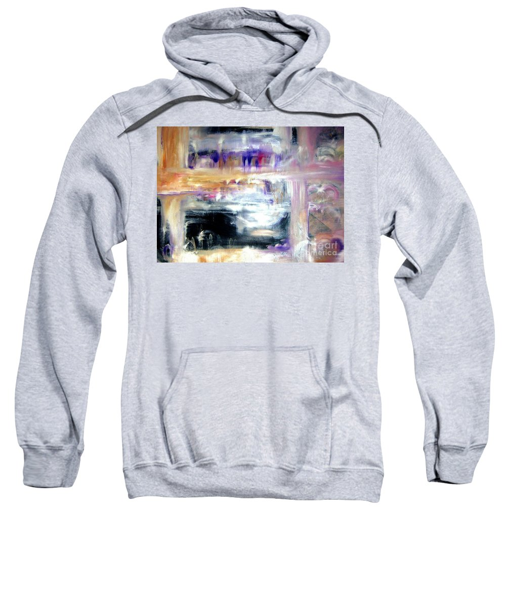 Glow Sweatshirt featuring the painting Earthen Vessel by Sandy Ryan