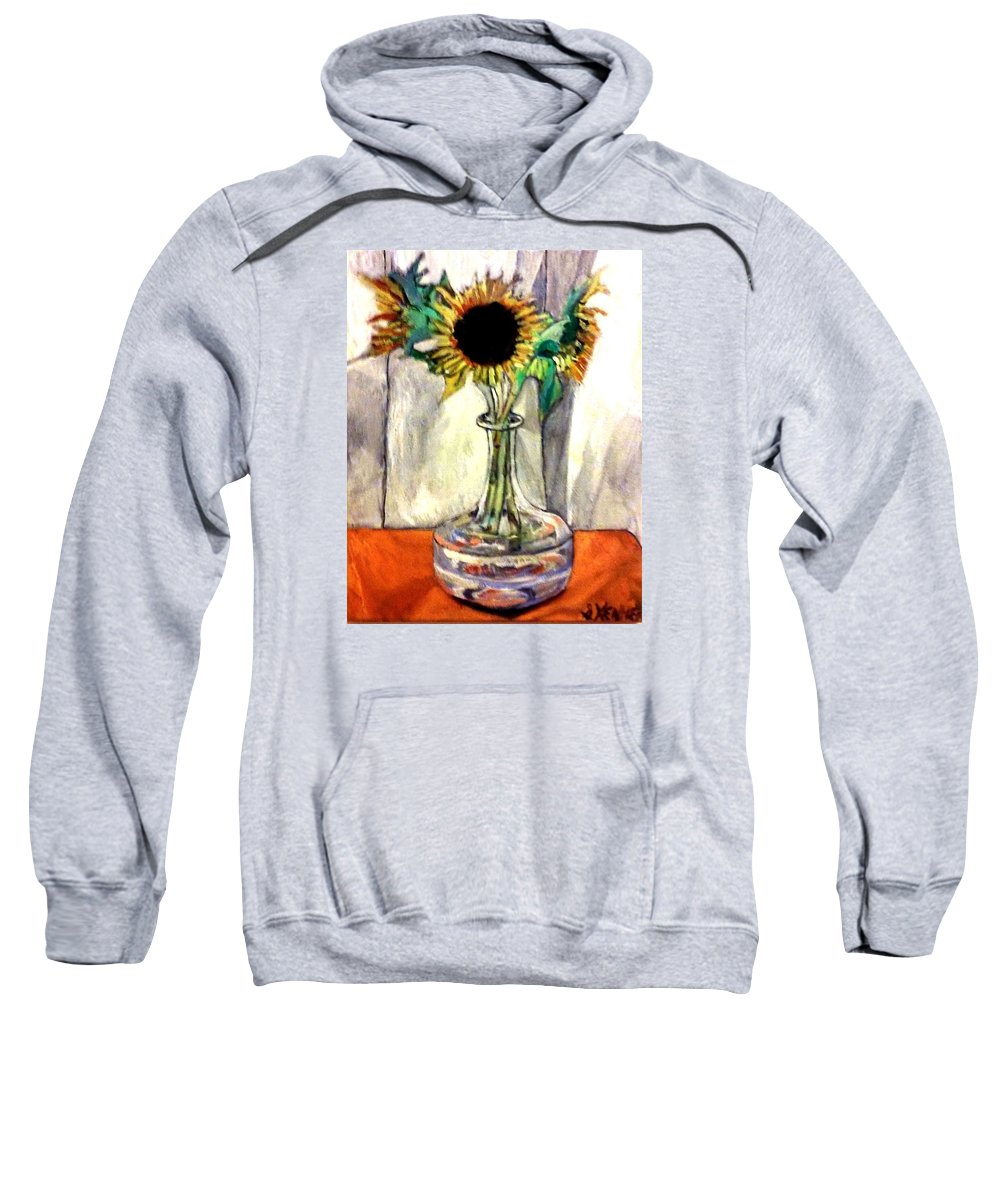 Still Life Sweatshirt featuring the painting Earthly Limitations by Shawn Kenney