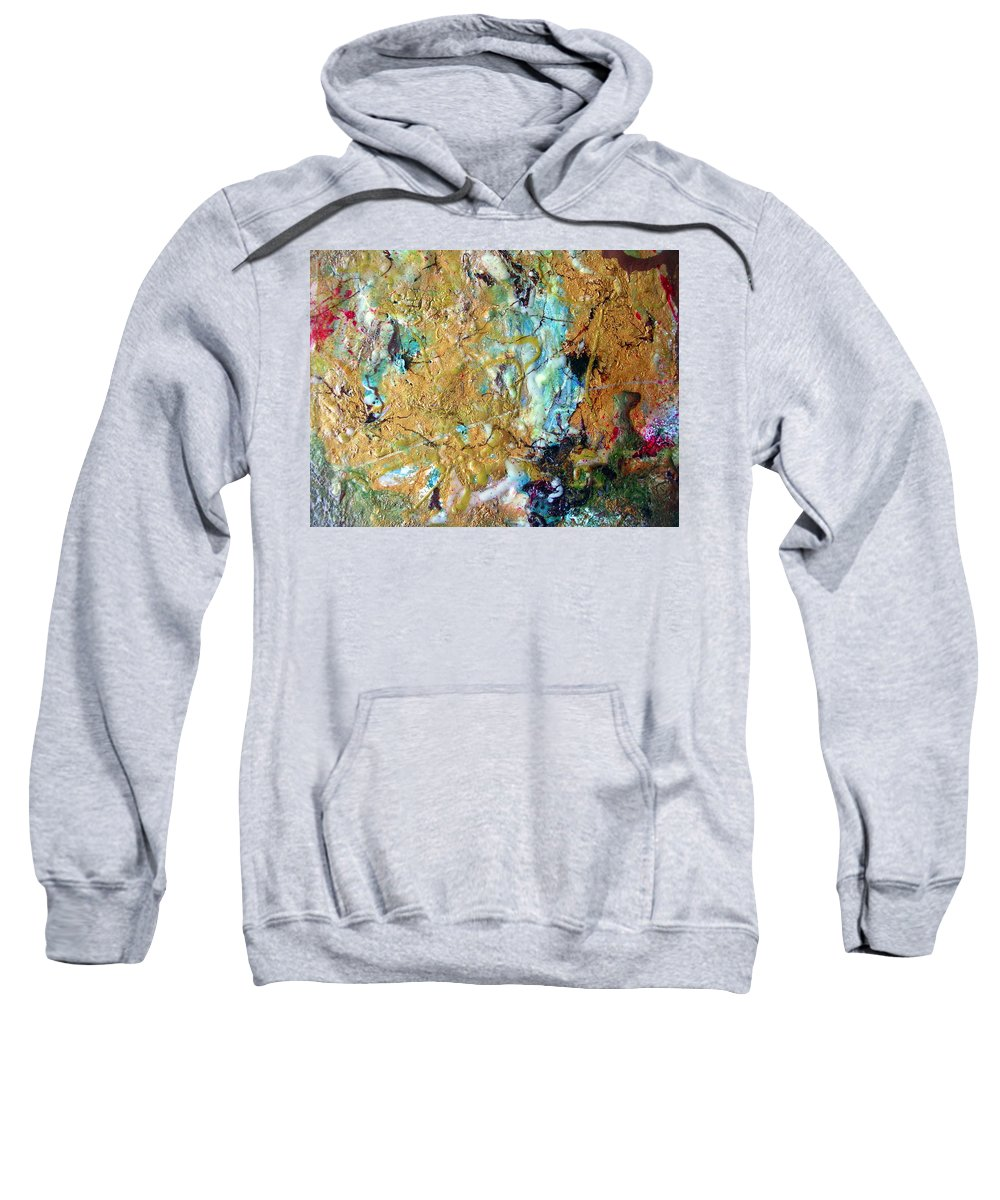 Art Sweatshirt featuring the painting Earth's Embrace by Dawn Hough Sebaugh