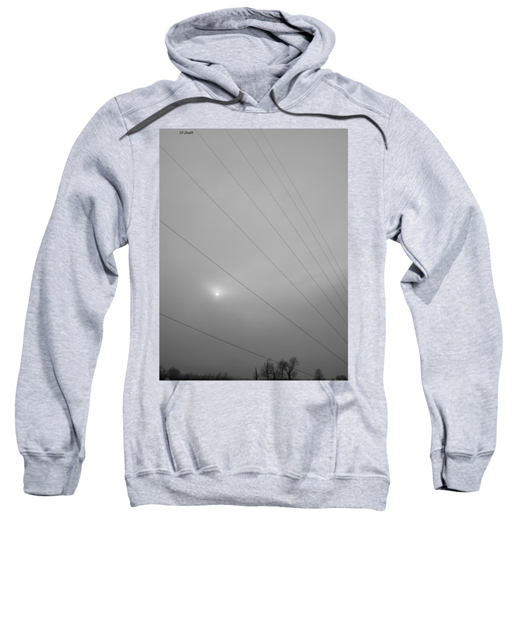 Earths Guy Wires Sweatshirt featuring the photograph Earths Guy Wires by Ed Smith