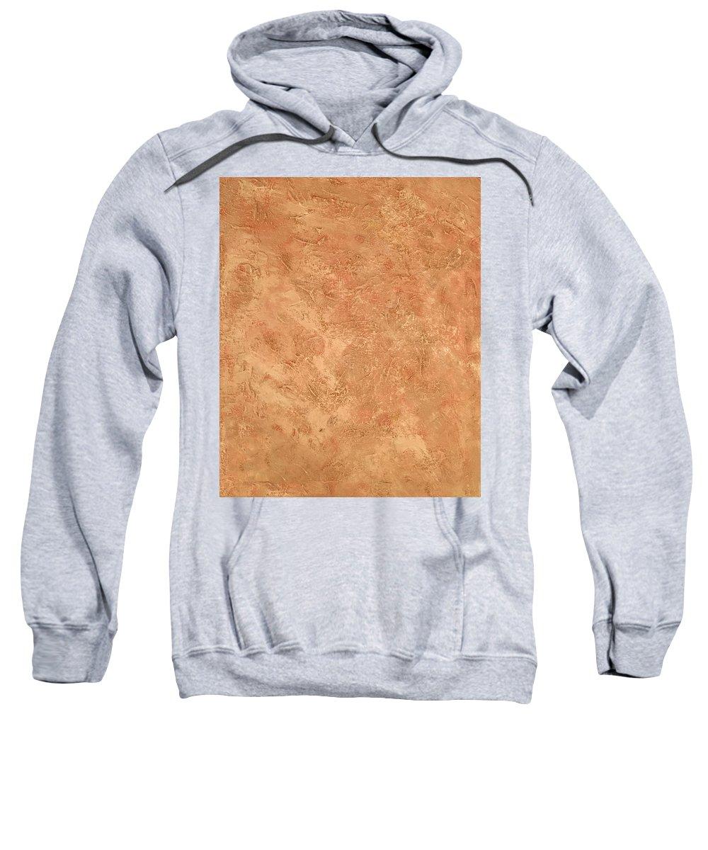 Brown Sweatshirt featuring the painting Earthtone by Lisa Gay Wilson