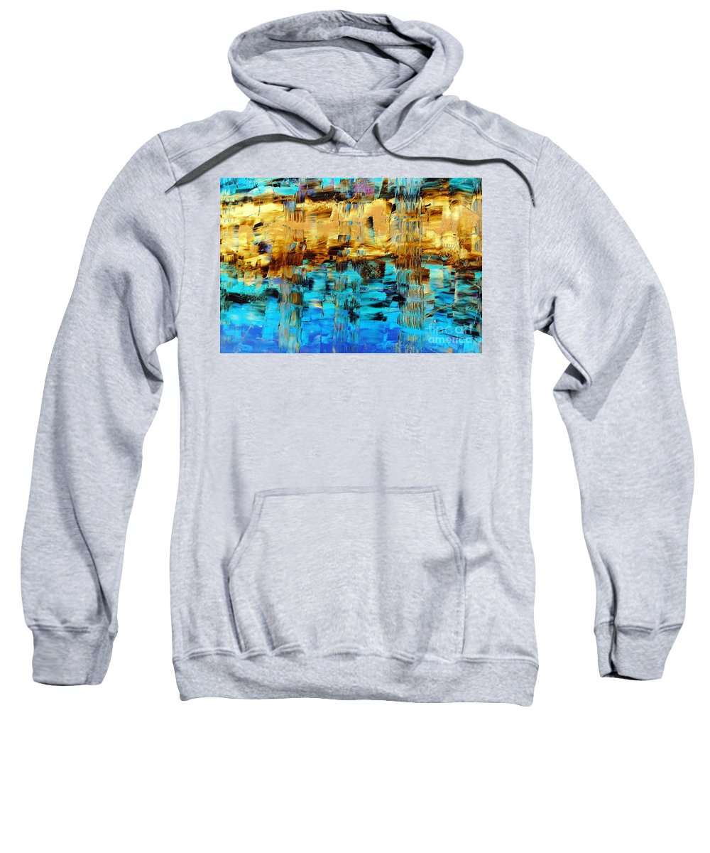 Echos Of Silence Sweatshirt featuring the painting Echos Of Silence by Dawn Hough Sebaugh