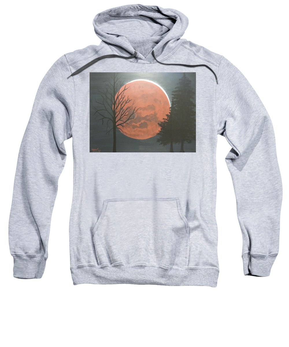 Landscape Sweatshirt featuring the painting Eclipse by Martha Sanchez-Hayre