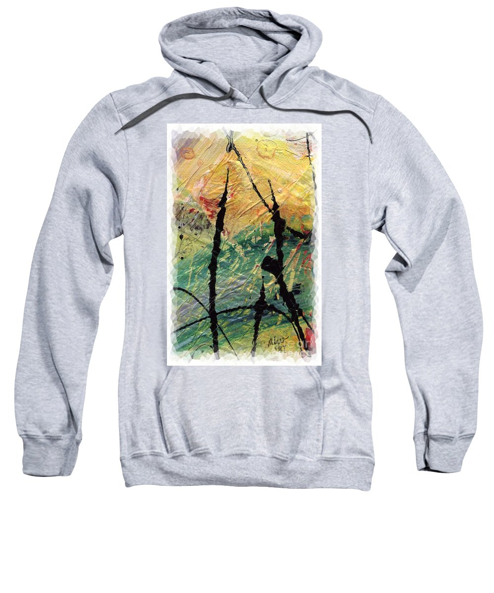 Abstract Sweatshirt featuring the painting Ecstasy II by Angela L Walker