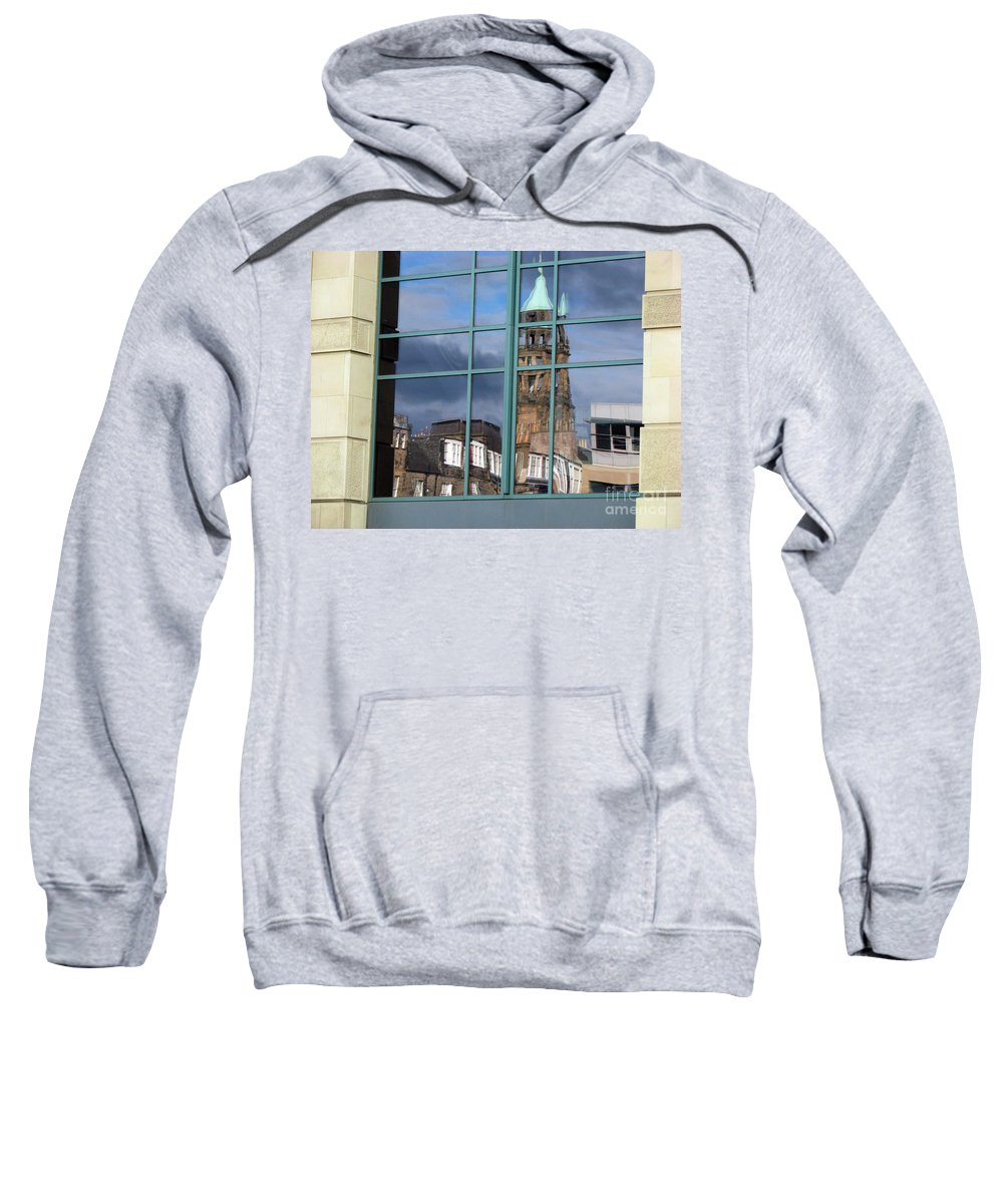 Reflection Sweatshirt featuring the photograph Edinburgh Self Interpreted by Amanda Barcon