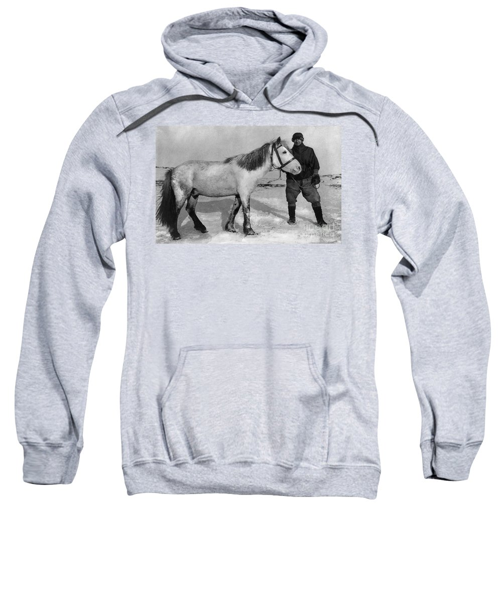 1910 Sweatshirt featuring the painting Edward Wilson (1872-1912) by Granger