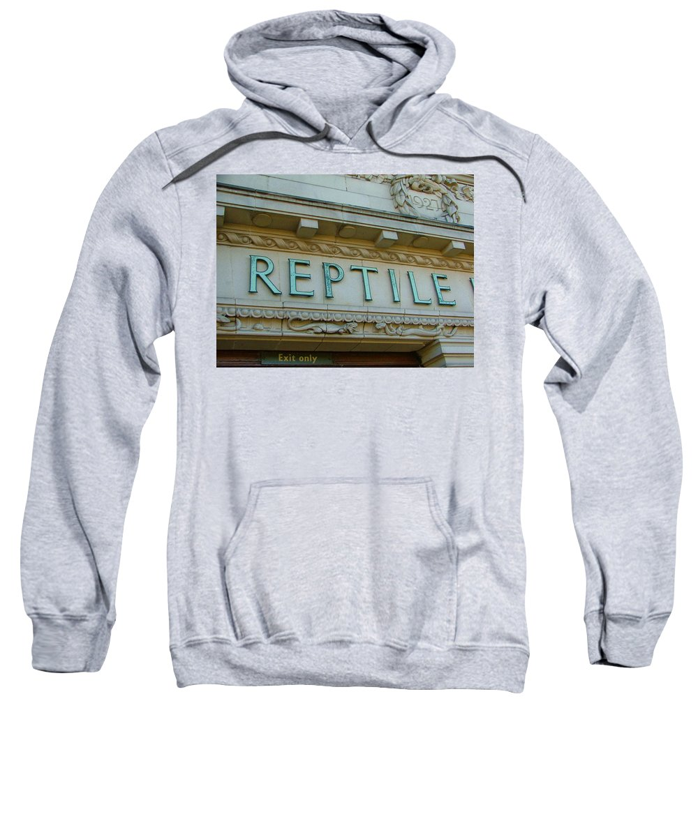 Reptile Sweatshirt featuring the photograph Edwardian Reptile House by Heather Lennox